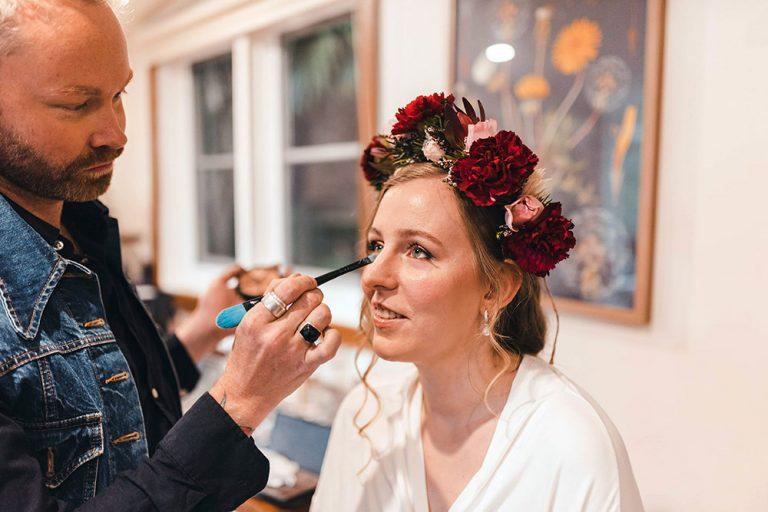 Wedding makeup at home